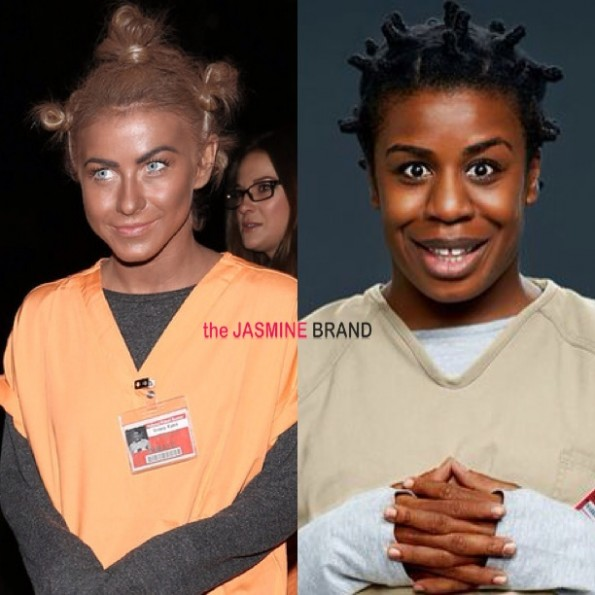 julianne hough-dresses up in black face-orange is the new black-halloween-the jasmine brand