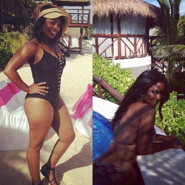kandi burruss-kenya moore-beach-bikini photos-the jasmine brand