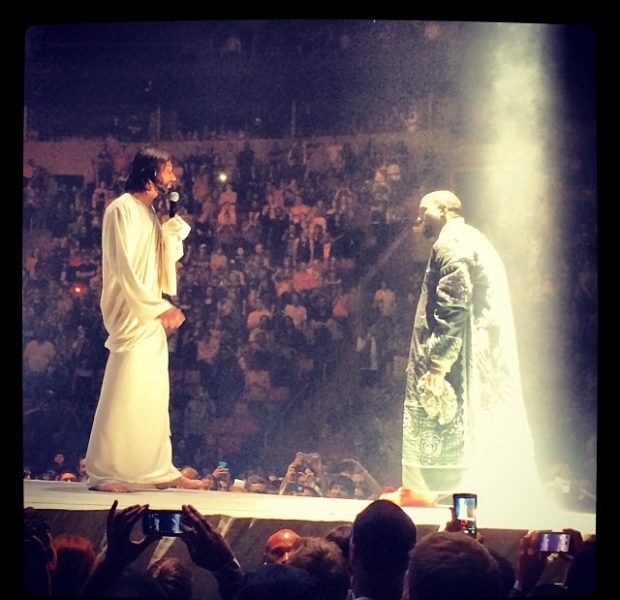 [WATCH] Blasphemy Or Entertainment: Kanye West Brings Jesus Out For Seattle Show
