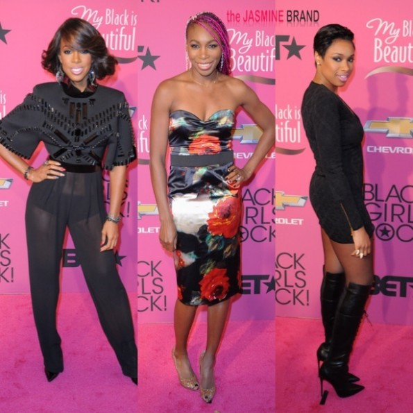 kelly rowland-venus williams-jennifer hudson-black girls rock 2013-the jasmine brand