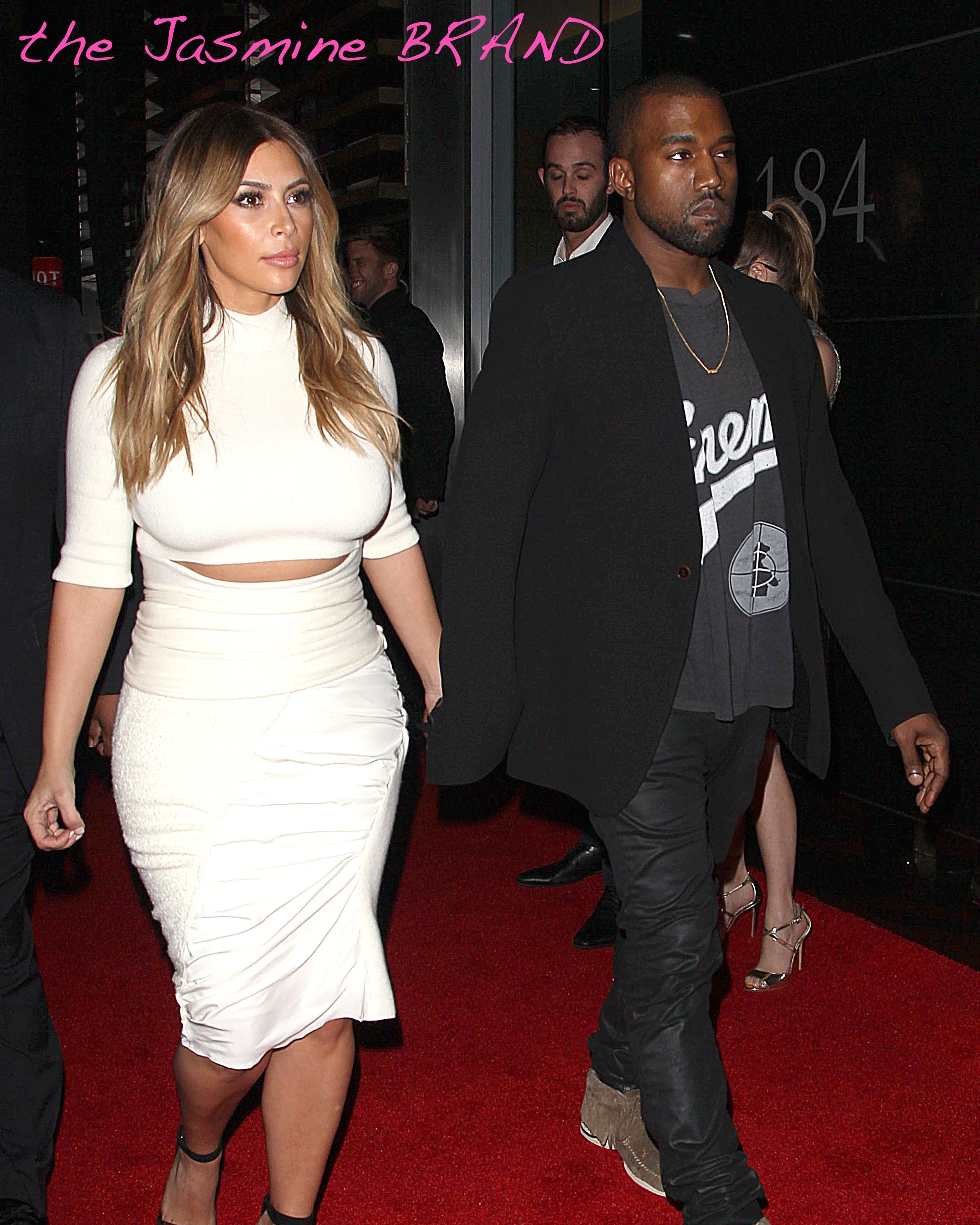 Kim Kardashian and Kanye West Arrive to Spago