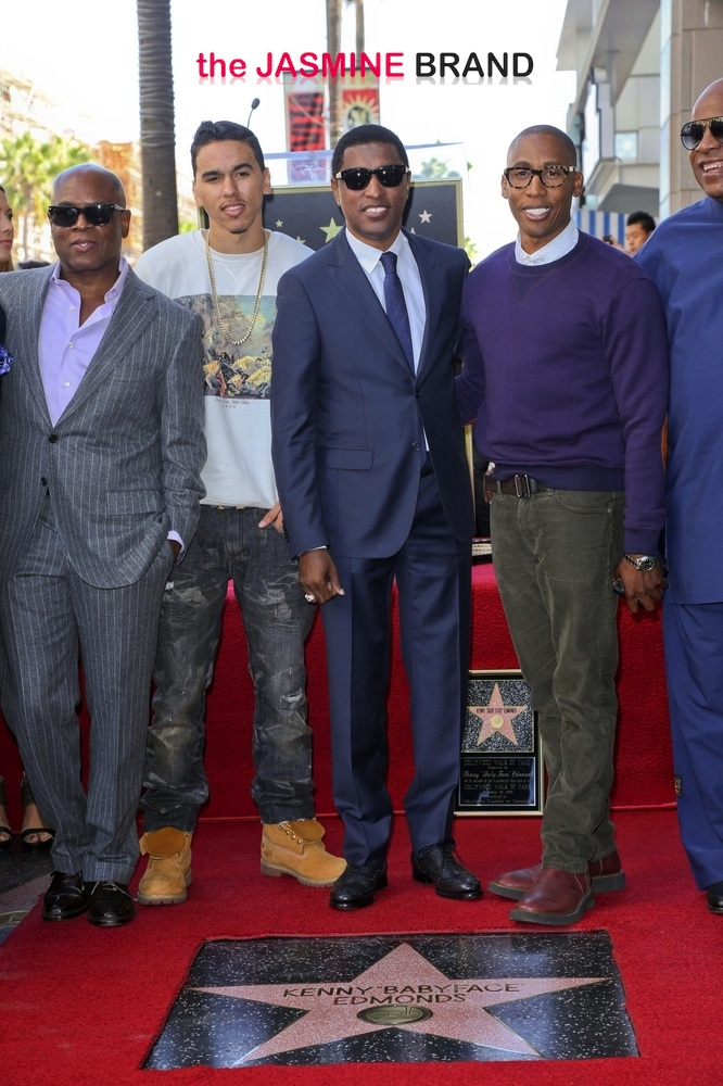 "Kenny ""BabyFace"" Edmunds Honored with a Star on the Hollywood Walk of Fame on October 10, 2013"