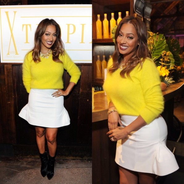 lala anthony-Mellow at Tropix Hello Yellow Launch-the jasmine brand