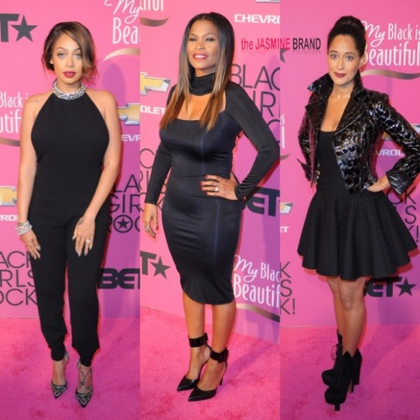 lala anthony-nia long-tracee ellis ross-black girls rock 2013-the jasmine brand