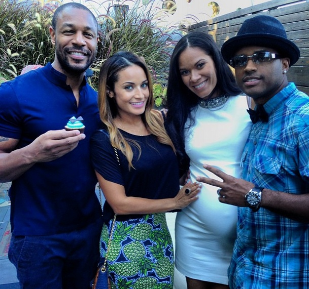 Ovary Hustlin': Larenz Tate & Wife Expecting Baby Number 3, Peep Baby Shower Photos