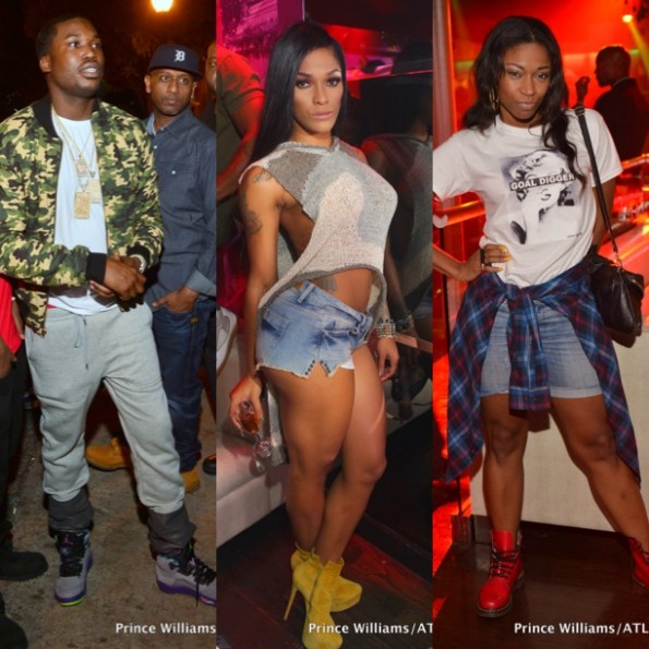 meek mill-joseline hernandez-d woods-party in atlanta 2013-the jasmine brand