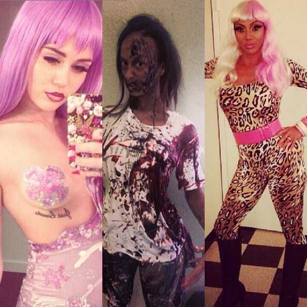 miley cyrus-draya michele-holly robinson peete-celebrity costume halloween-the jasmine brand