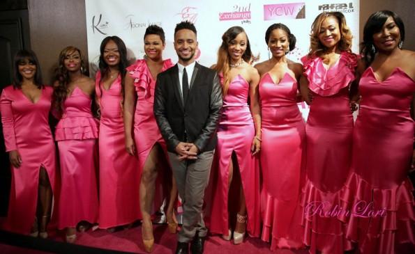 pink carpet-mimi faust-quad lunceford-erica dixon-women of atlanta-breast cancer fashion show-the jasmine brand