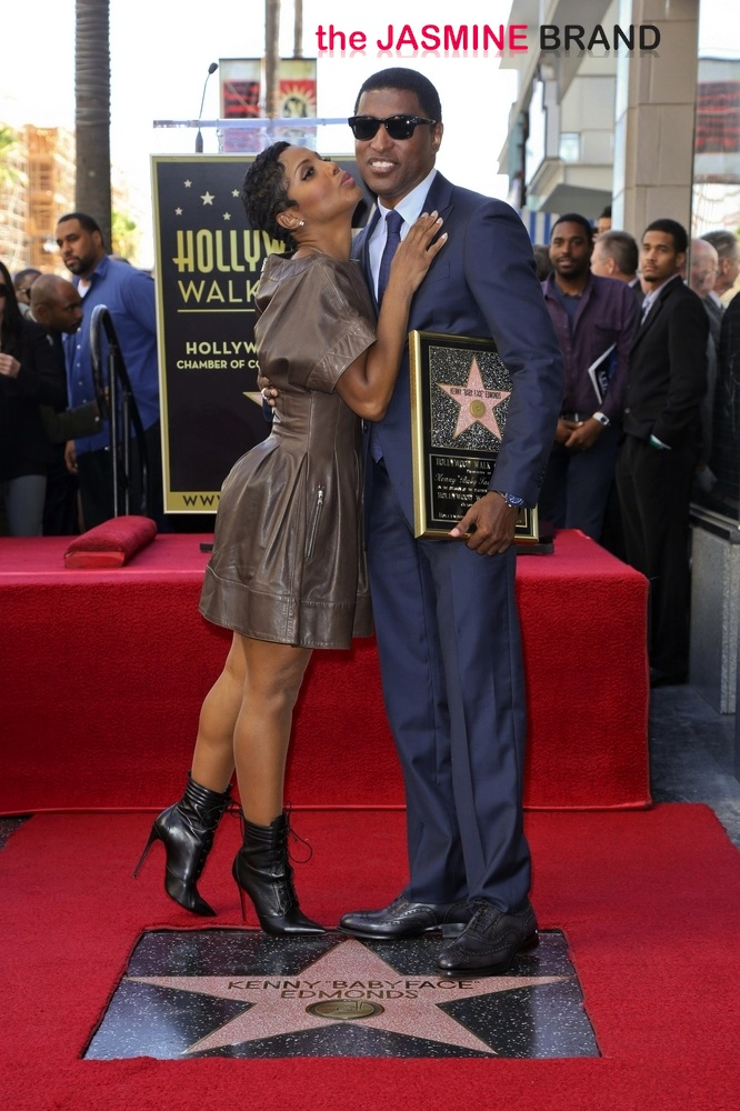 """Kenny """"BabyFace"""" Edmunds Honored with a Star on the Hollywood Walk of Fame on October 10, 2013"""
