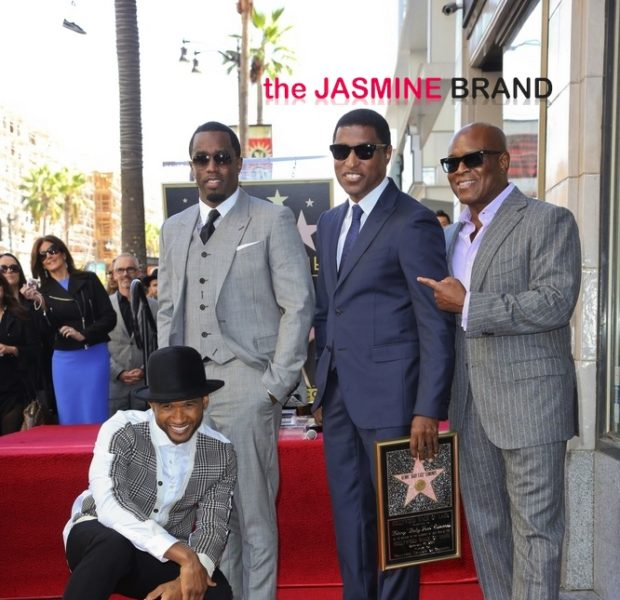 [Photos] Diddy, Toni Braxton, Stevie Wonder & Kris Jenner Attend Babyface's Hollywood Star Ceremony