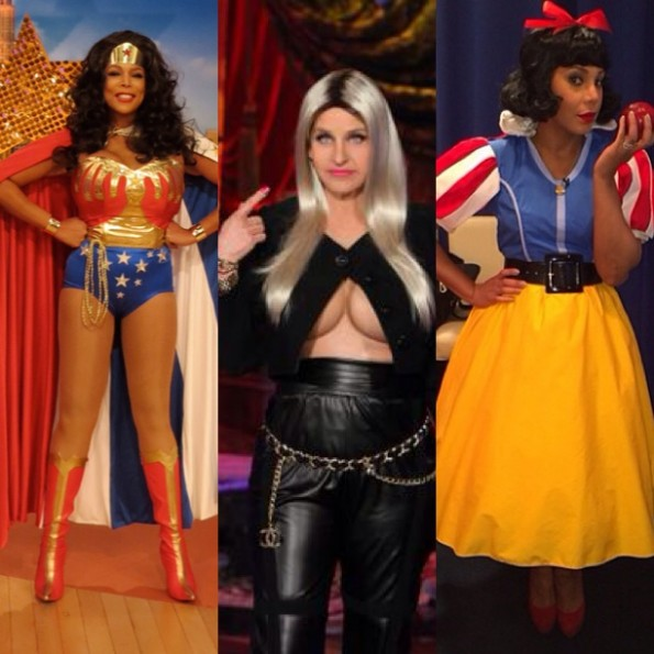 wendy williams-ellen as nicki minaj-tamar braxton-celebrity costumes halloween 2013-the jasmine brand