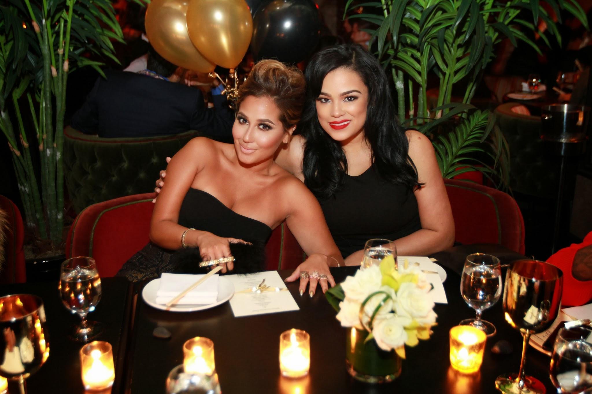 Adrienne Bailon-Emily Bustamante-fab and trey songz birthday dinner 2013-the jasmine brand