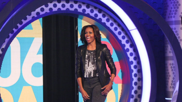 [Photos] First Lady Michelle Obama Takes Over BET's 106 & Park