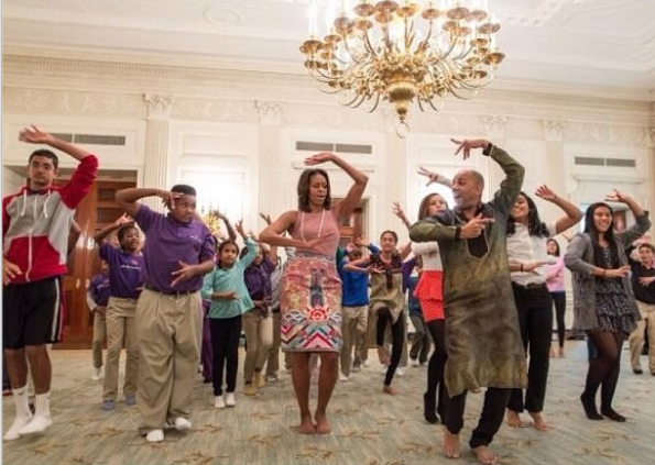 Michelle Obama Dance Celebration-The Jasmine Brand
