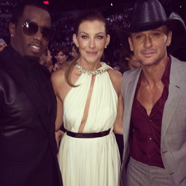 Diddy Attends The CMA Awards-Faith Hill-Tim McGraw-The Jasmine Brand.jpg