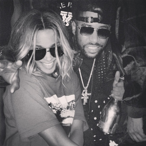 Ciara Rocko Hang At Club-The Jasmine Brand
