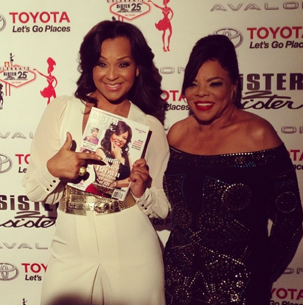 Lisa Raye Jamie Foster Brown Sister 2 Sister Red Carpet-The Jasmine Brand