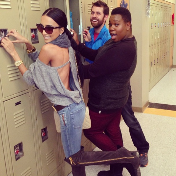 Lilly-Ghalichi-On Set of Glee-The Jasmine Brand
