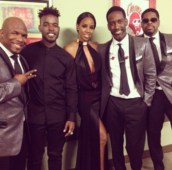 Kelly Rowland-Luke James-Berry Gordy-Boyz II Men- Grammy Event-The Jasmine Brand