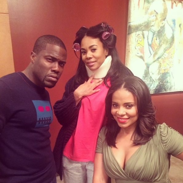 Sanaa Lathan-Regina Hall-Stopes By-Set Of RHOH-Kevin Hart-The Jasmine Brand