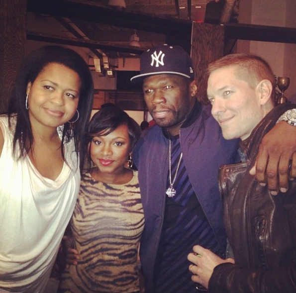 50 Cent-Kicked It With Cast Mates-NYC-The Jasmine Brand