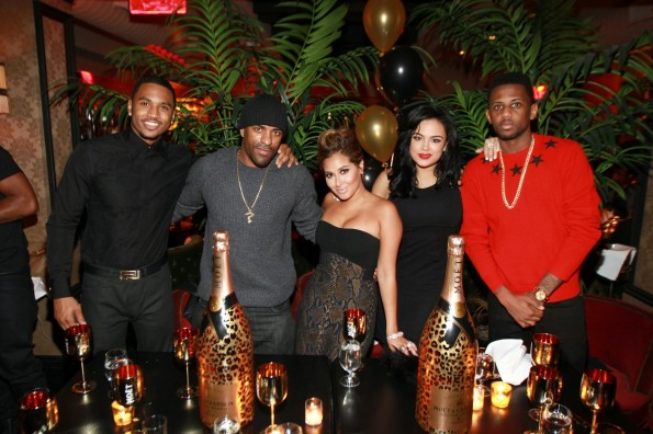 Trey Songz Dj Clue Adrienne Bailon Emily Bustamante Fabolous Birthday Dinner 2017