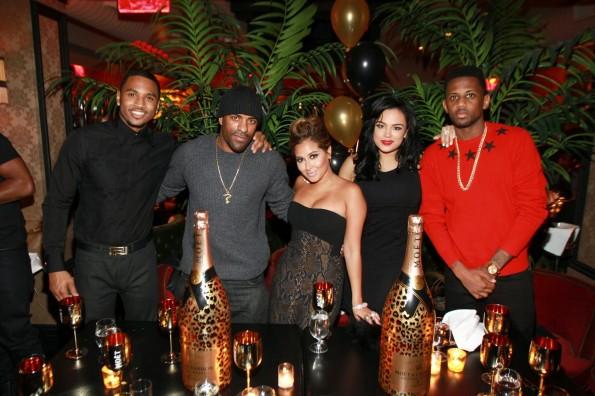 Trey Songz-DJ Clue-Adrienne Bailon-Emily Bustamante-Fabolous birthday dinner 2013-the jasmine brand