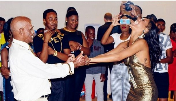 [Photos] Rihanna Throws A Helluva Birthday Bash For Grandfather's 85th Birthday