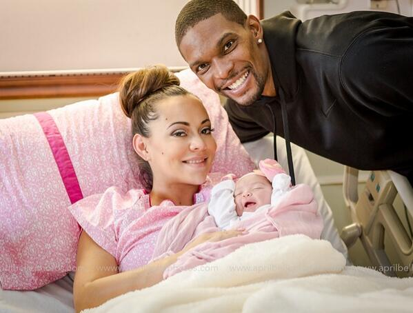 [Photos] Adrienne & Christopher Bosh Welcome Baby Girl Dylan Bosh