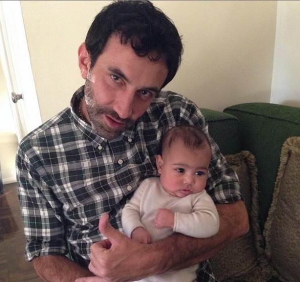 baby north-poses with givenchy designer-Riccardo Tisci-kim kardashian-the jasmine brand