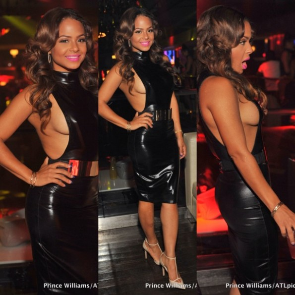 christina milian-side boob action-atlanta prive-the jasmine brand