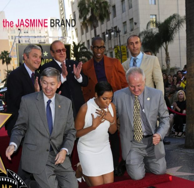 [Photos] Hustle Harder: Jennifer Hudson Receives 'Hollywood Star'