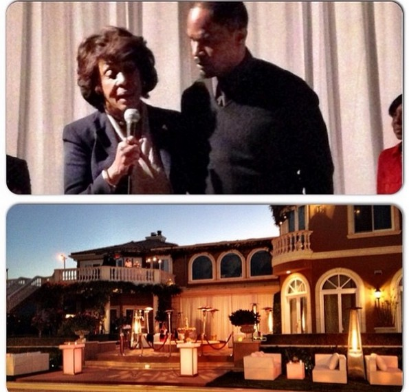congress woman maxine waters-jamie foxx-hosts trayvon martin-hollywood charity event-the jasmine brand