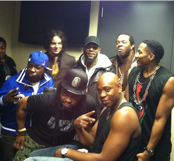 dave chappelle-busta rhymes-qtip-kanye west yeezus tour-nyc-the jasmine brand