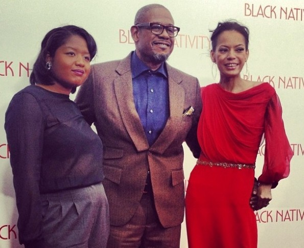 forest whitaker-wife-daughter-black nativity premiere-the jasmine brand