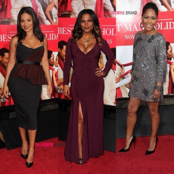 i-sanaa lathan-nia long-monica calhoun-the best man holiday premiere-the jasmine brand