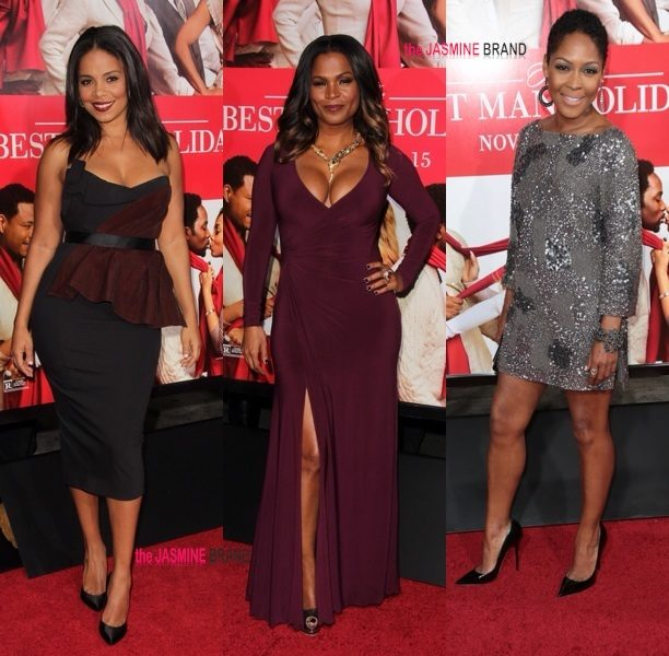 [Photos] Nia Long, Sanaa Lathan, Monica Calhoun & Entire 'Best Man Holiday' Cast Attends Premiere + Shaunie O'Neal, Michelle Williams & Lil Mama Spotted