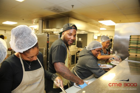 ii-young jeezy-No Reservations Needed Food Drive-Atlanta Mission 2013-the jasmine brand
