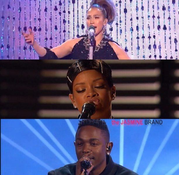 [WATCH] American Music Awards Performances: Rihanna, Kendrick Lamar, J.Lo, Lady Gaga & R.Kelly