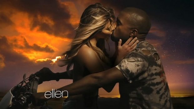 [WATCH] Kanye West & A Chest Naked Kim Kardashian Share Sunset Romance In 'Bound 2' Video