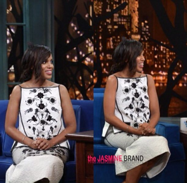 [VIDEO] Kerry Washington Debuts Her Baby Bump on 'Late Night With Jimmy Fallon'