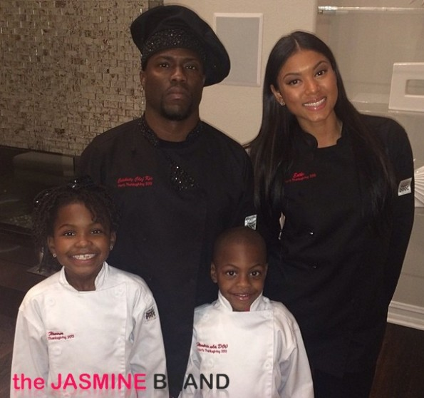 kevin hart-girlfriend-kids chef-thanksgiving 2013-the jasmine brand