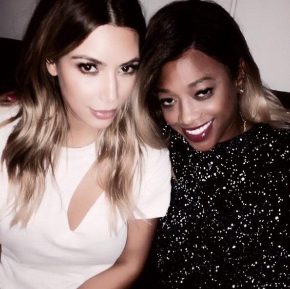 kim kardashian-trina-kanye west yeezus tour-nyc-the jasmine brand
