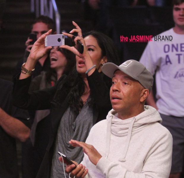 Cup Cakin Or A Platonic Date? Russell Simmons & Kimora Spotted At Lakers Game