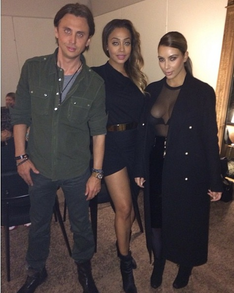 lala anthony-jonathan cheban-kim kardashian-yeezus tour in nyc-the jasmine brand