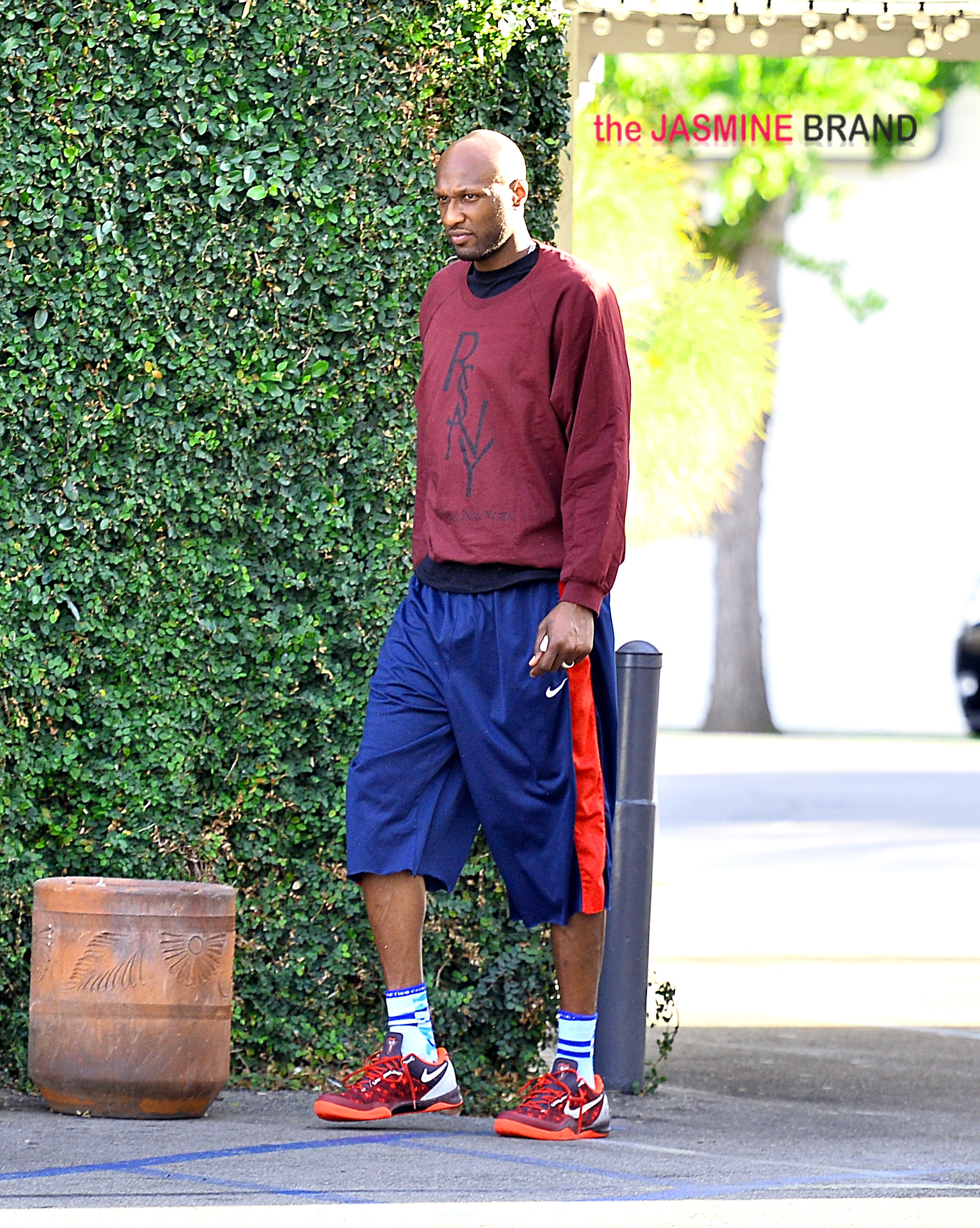 Lamar Odom spotted out after lunch on his birthday at Casa Vega in Studio City, CA.