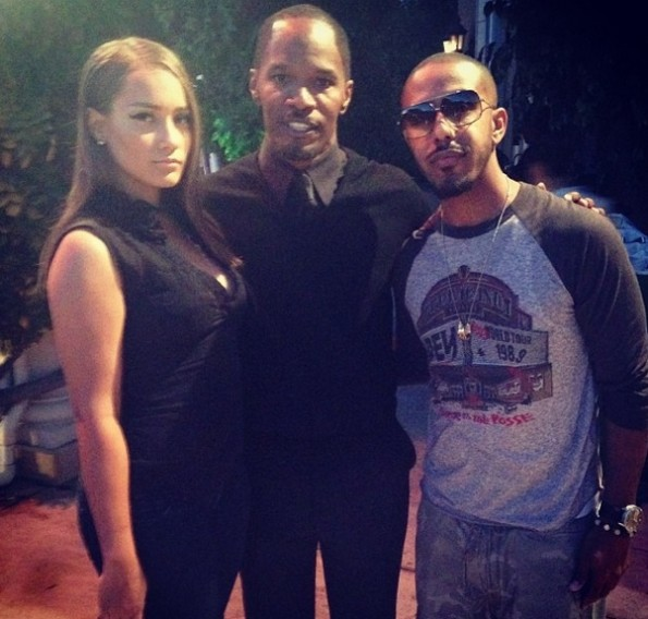 marques houston-jamie foxx-hosts trayvon martin-hollywood charity event-the jasmine brand