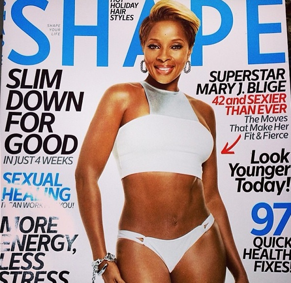 Mary J. Blige Strips Down to Swimsuit for Shape Magazine Cover, Hubby Kendu Isaacs Sings Her Praises