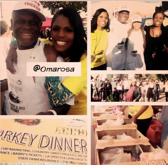 michael clayton-omarosa-feed the needy thanksgiving 2013-the jasmine brand