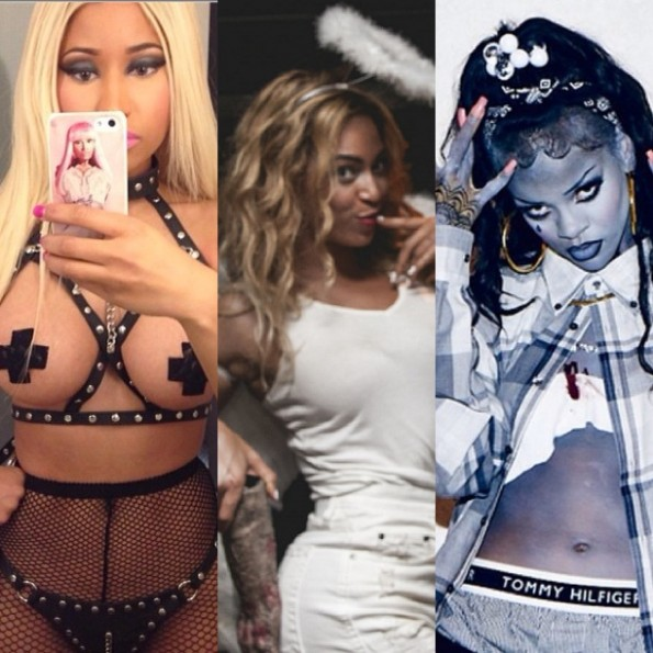 nicki minaj-beyonce-rihanna-halloween costume 2013-the jasmine brand